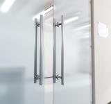 Glass Door afixed to Demountable Walls