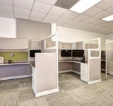 Remanufactured/Used high_walled cubicles with glass and partition