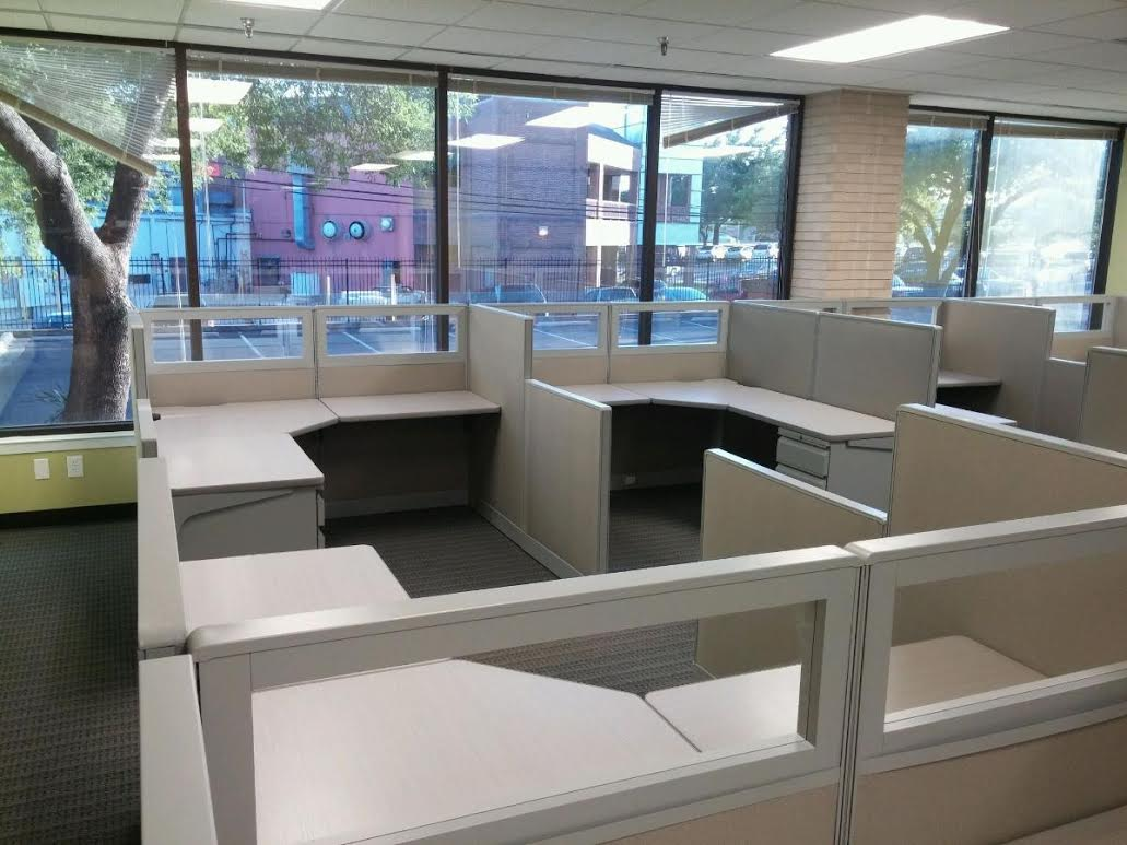 Office Cubicle Installation For Houston Security Company