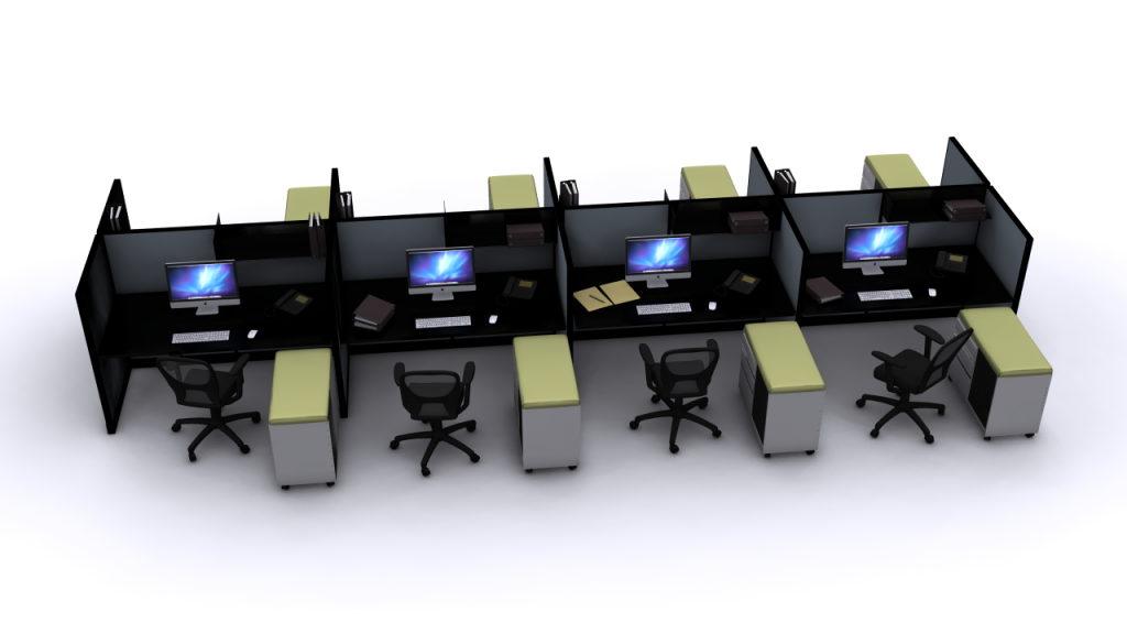 Call center and telemarketing cubicles