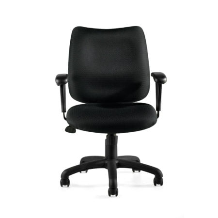 Offices To Go Black Task Chair OTG11612B Front