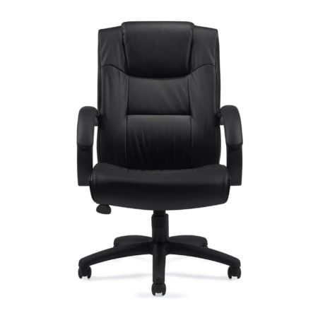 Managers Black Luxhide Chair OTG11618B Front