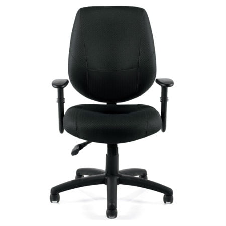 Manager Black Task Chair OTG11631B Front Square