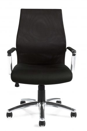 offices to go 11657B mesh back managers chair front