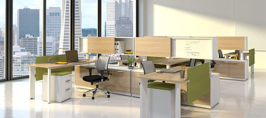 2017 Office Furniture Trends Collaborative Office Cubicles