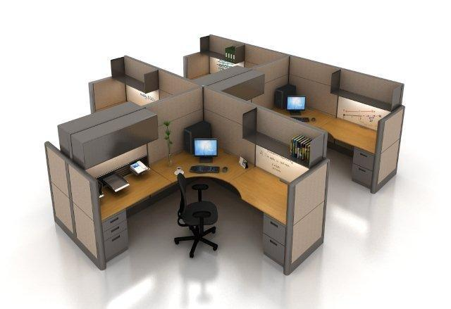 Swell Used Office Cubicles Houston Tx Remanufactured Workstations Interior Design Ideas Grebswwsoteloinfo