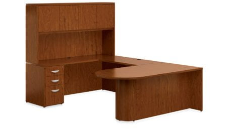 Offices To Go Veneer Executive Desk VFA_TCH