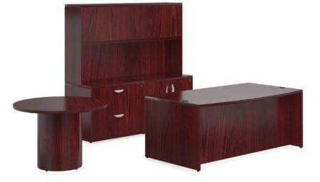 Offices To Go Veneer Executive Desk VFD_CCH