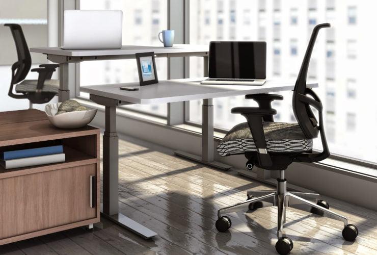 Mayline Sit Stand Workstation