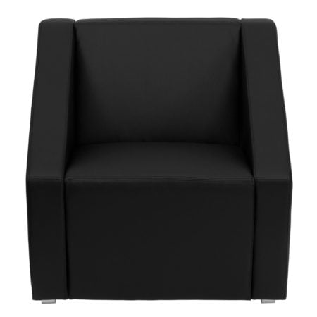 HERCULES SMART SERIES BLACK LEATHER LOUNGE CHAIR