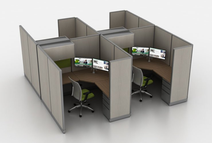 high walled cubicle