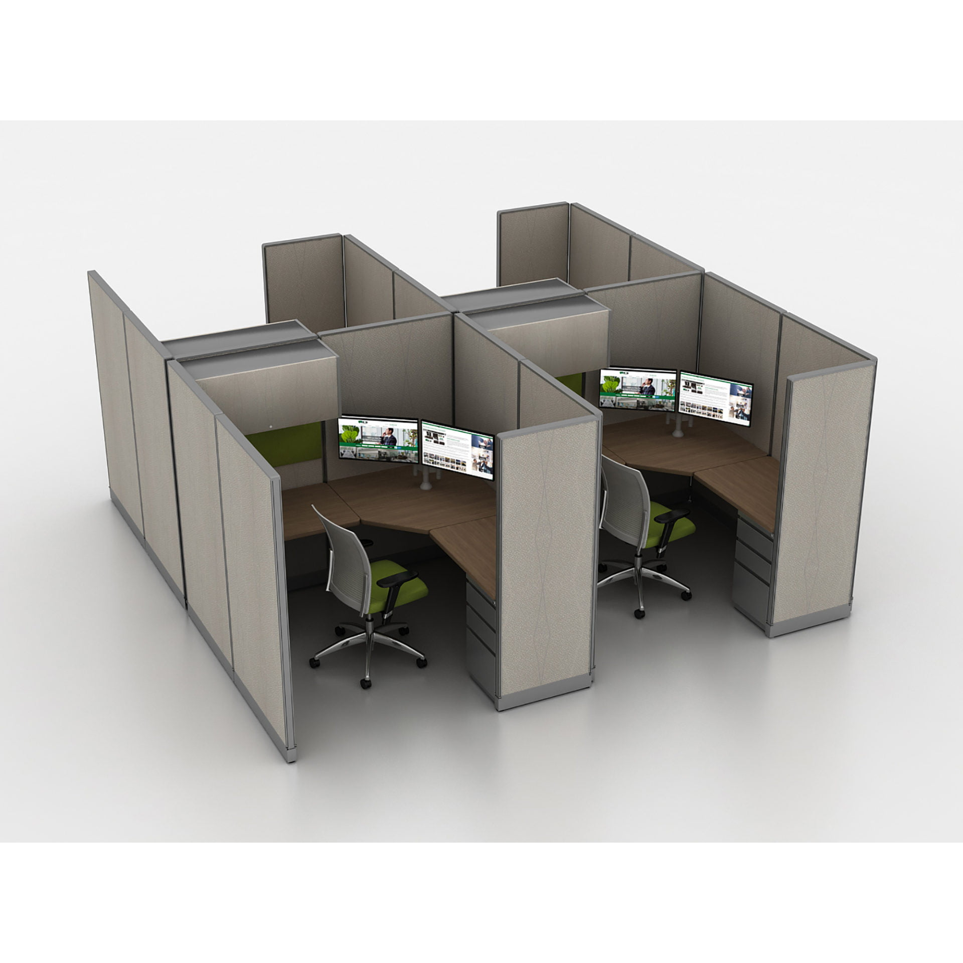 Used Cubicles Remanufactured Cubicles High Paneled Private