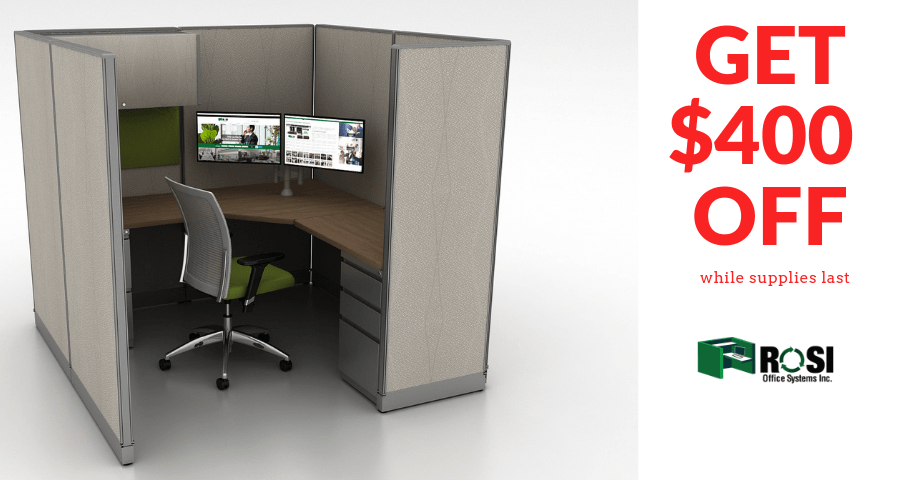 Save on cubicle workstations while supplies last