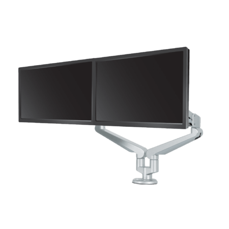 Silver Base EDGE2_Dual Monitor Arm