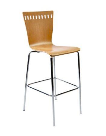 natural colored wood veneer stool