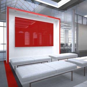 red glassboard