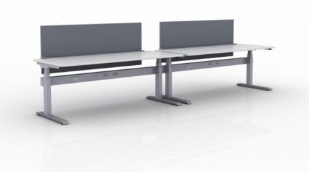 KINEX 2-Pack Single Run Benching, created with height adjustment in 2 stages. Model KN022 is 72x30 inches, and placed on a white background.