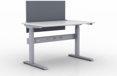 KINEX Benching 48x30 single workstation. Model KN037 is on a white background.