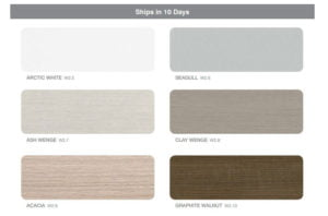 ICON benching systems 10-day laminate finishes