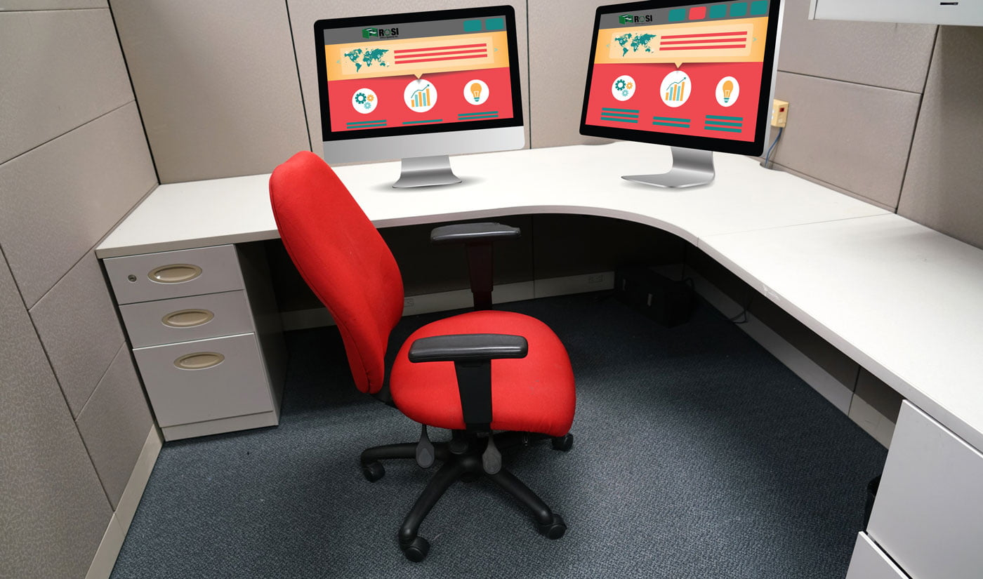 where to put your computer in your office cubicle workspace