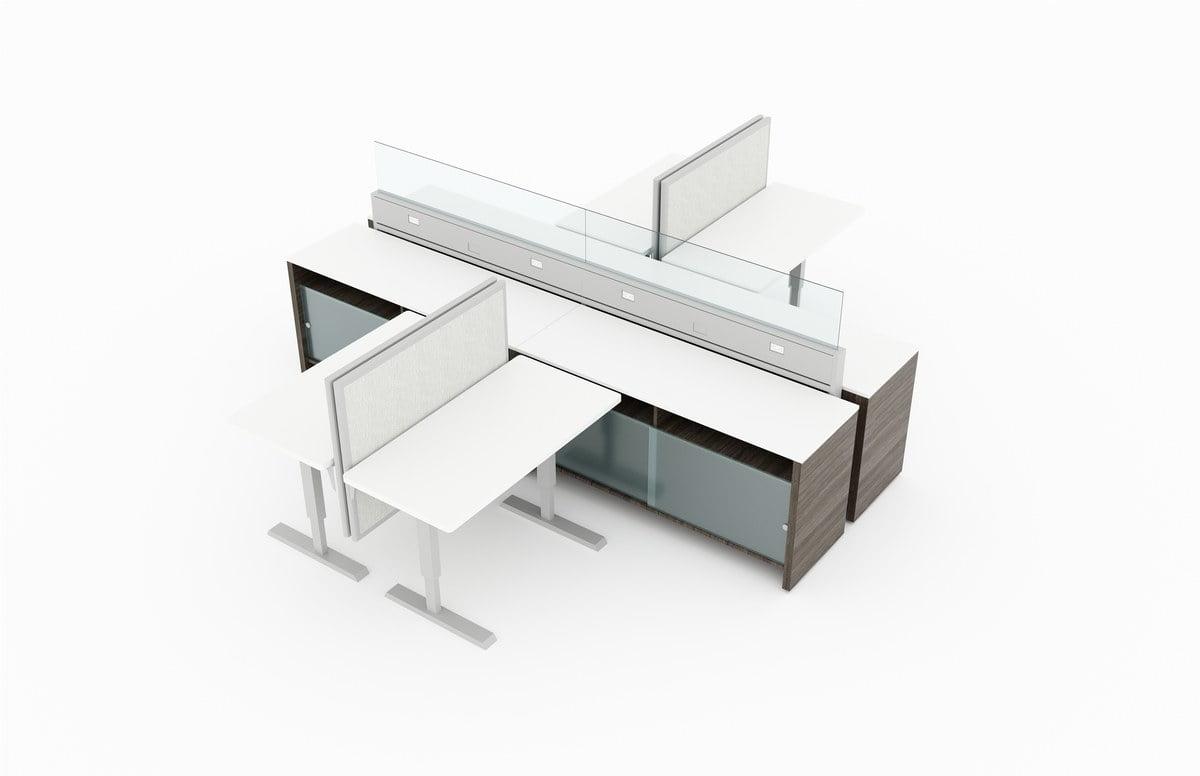 L Shaped Workstations Rosi Office Systems Inc