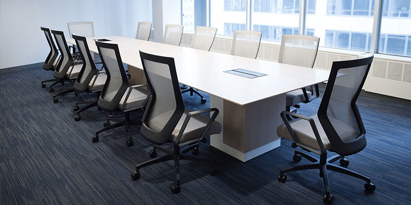 Mid Back RunII Chairs in a Conference Room, City View
