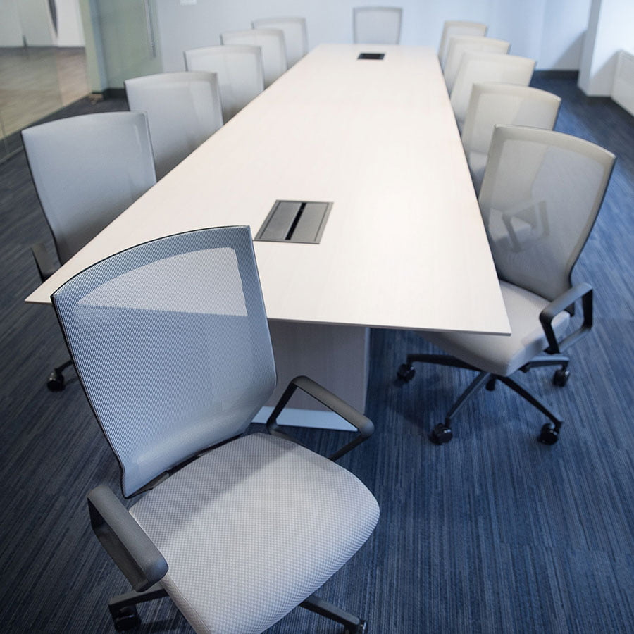 Mid Back RunII Chairs in a Conference Room, Front View