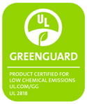 Logo for the UL's Low Chemical (Indoor) Emission certification.
